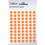 Blick Self Adhesive Labels Orange 8mm Pack of 490